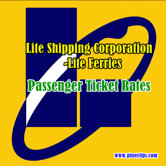 Lite Shipping-Lite Ferries Passenger Ticket Rates