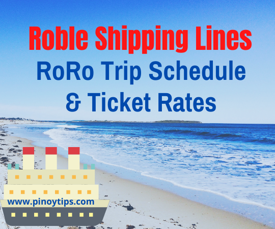 Roble-Shipping-Lines-RoRo-Trip-Schedule-Ticket-Rates